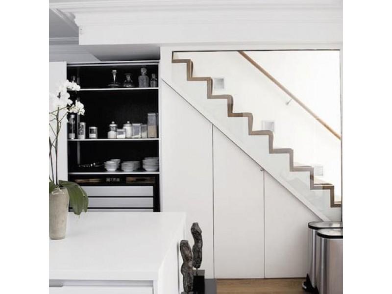 Armarios hueco escalera fue una buena solucin para no tener que hacer una escalera nueva y a la - Armario hueco escalera ...